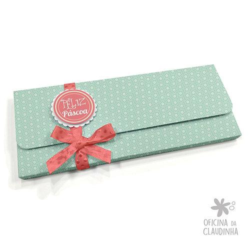 Caixa para 1 barra de chocolate - Delicatesse Azul Flor