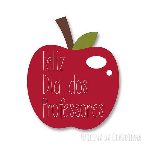 Aplique maçã - Dia dos professores