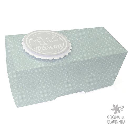 Caixa de Páscoa para 1 Bombom - Delicatesse Azul Hex