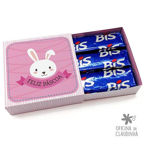 Caixa de Páscoa para 3 Bis - Coelho Rosa