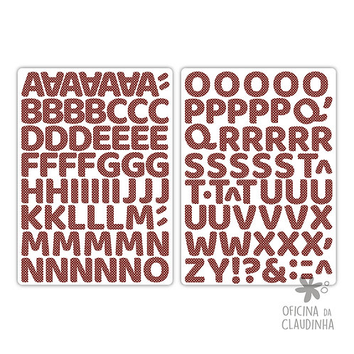 Oka poá vermelho | Alfabeto digital