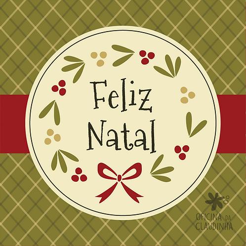Card Feliz Natal 06 - Vintage Vermelho e Verde