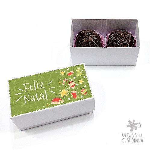 Caixa para 2 doces - Natal Verde