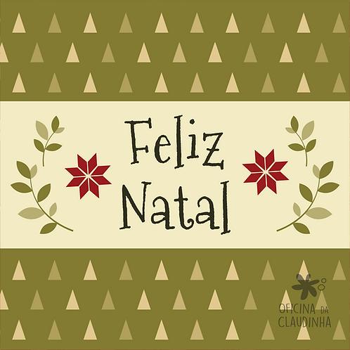 Card Feliz Natal 03 - Vintage Vermelho e Verde
