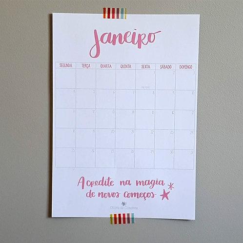 Calendário/Planner Mensal - 2021