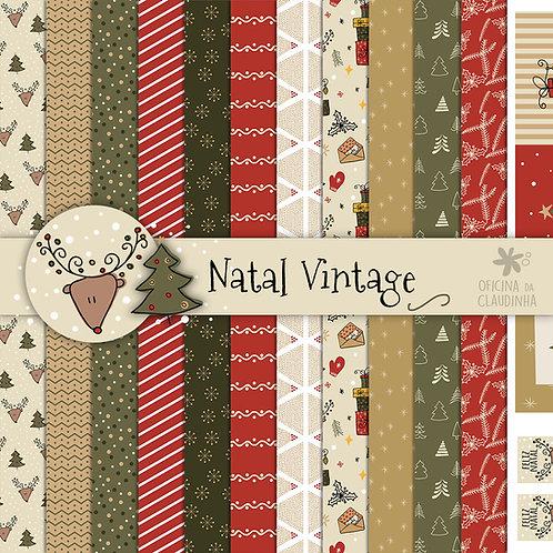 Natal Vintage | Papéis digitais