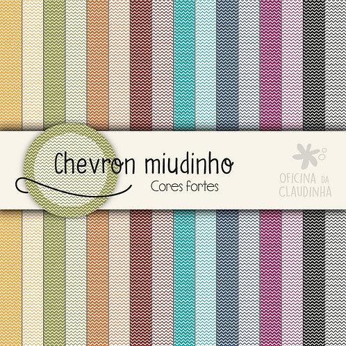 Chevron miudinho - Cores fortes | Papéis impressos