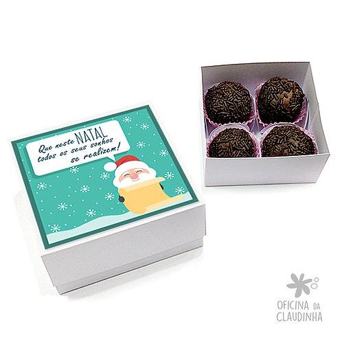 Caixa para 4 doces - Papai Noel realiza seus sonhos