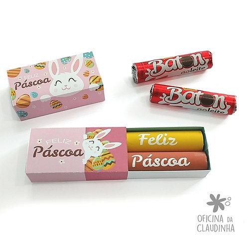 Caixa de Páscoa para 2 Batons - Rosa