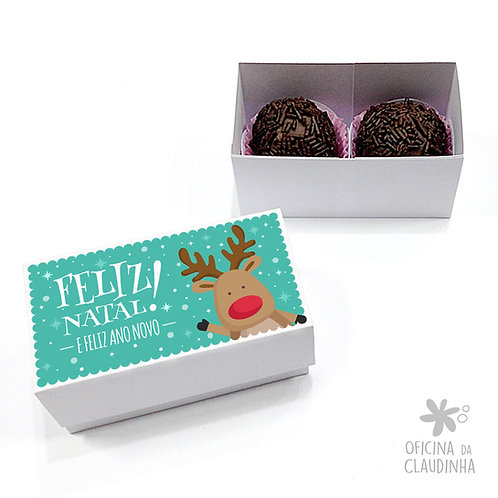 Caixa para 2 doces - Rena