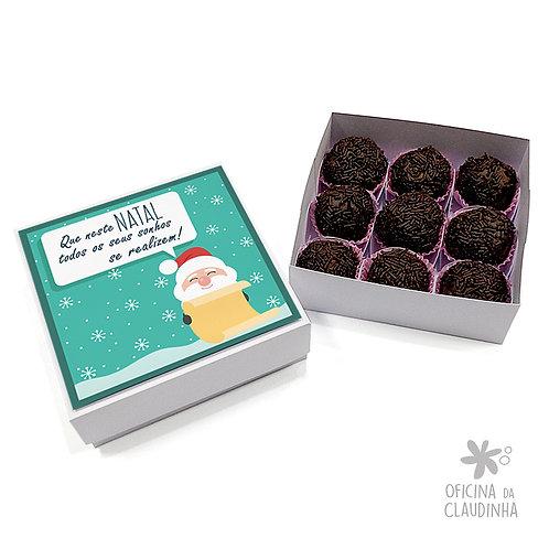 Caixa para 9 doces - Papai Noel realiza sonhos