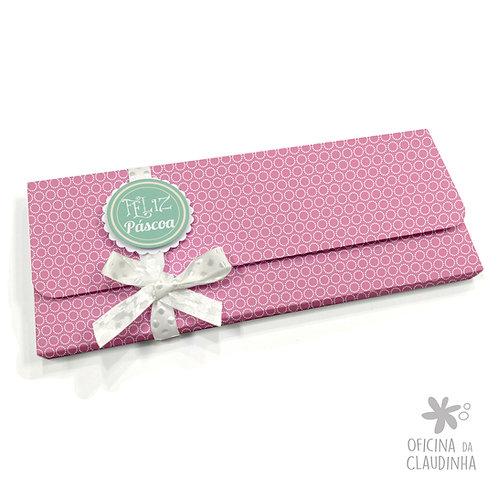 Caixa para 1 barra de chocolate - VB Rosa