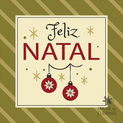 Card Feliz Natal 08 - Vintage Vermelho e Verde