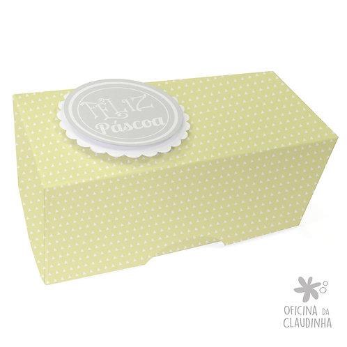 Caixa de Páscoa para 1 Bombom - Delicatesse Verde Triang
