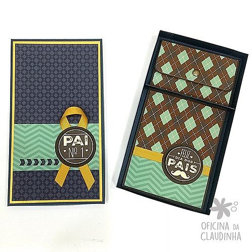 Caixa para carteira e cartão presente - Arquivo de corte