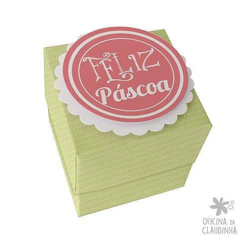 Caixa de Páscoa para 1 Ferrero Rocher - Delicatesse Verde Chev