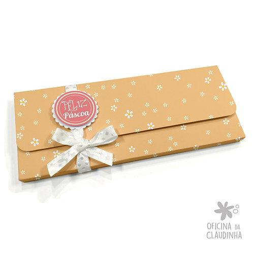 Caixa para 1 barra de chocolate - Laranja Flor