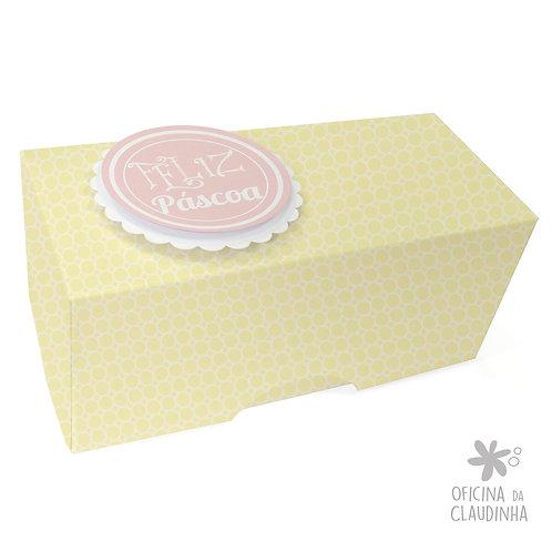 Caixa de Páscoa para 1 Bombom - Delicatesse Amarelo