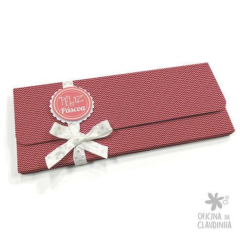 Caixa para 1 barra de chocolate - VB Vermelho