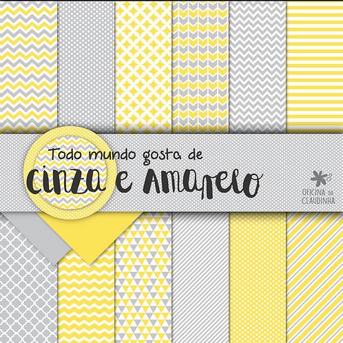 Todo mundo gosta de cinza e amarelo | Papéis impressos