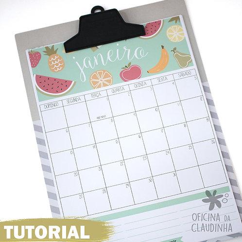 Calendário/Planner Mensal - 2019