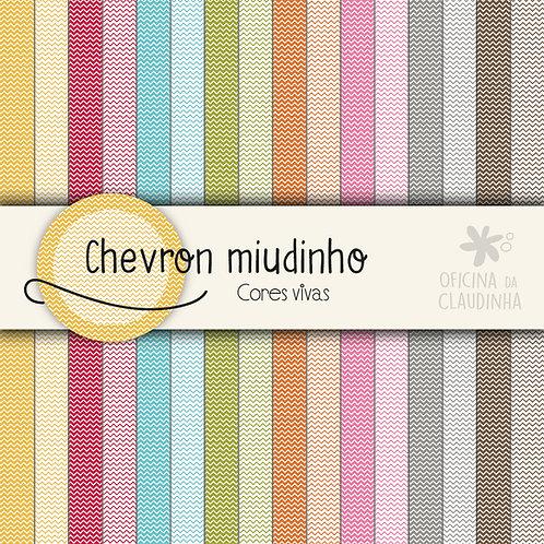 Chevron miudinho - Cores vivas | Papéis impressos