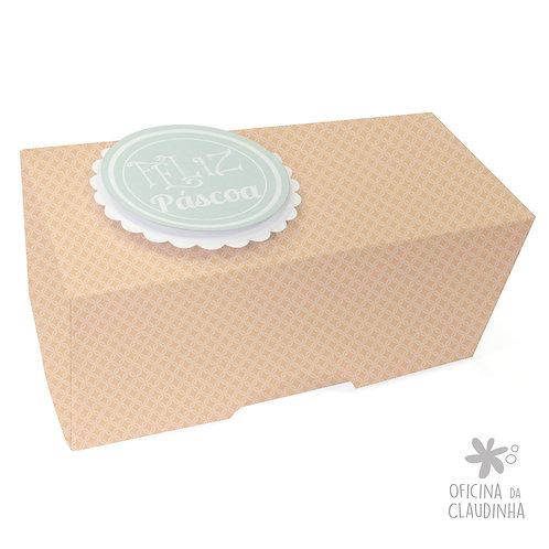 Caixa de Páscoa para 1 Bombom - Delicatesse Laranja