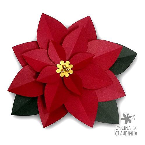 Molde PDF - Flor Poinsettia (Flor de Natal)