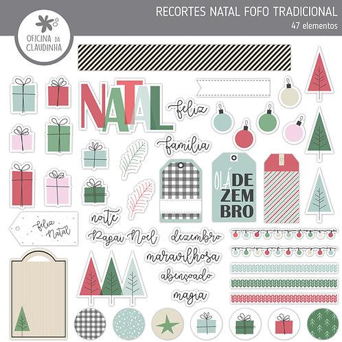 Natal fofo tradicional | Recortes impressos