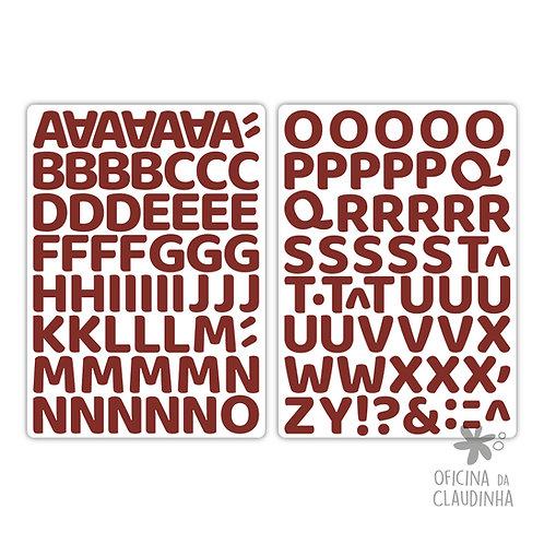 Oka vermelho | Alfabeto digital