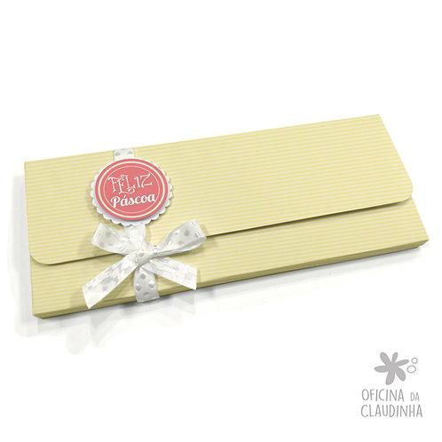 Caixa para 1 barra de chocolate - Delicatesse Amarelo Listras