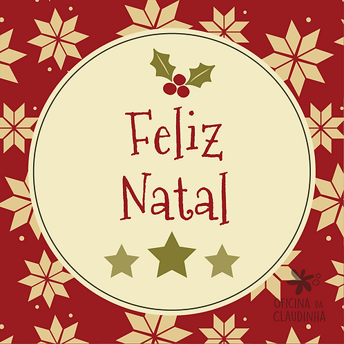 Card Feliz Natal 02 - Vintage Vermelho e Verde