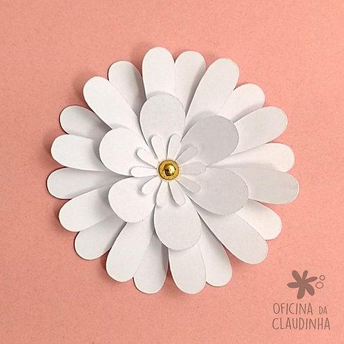 Flor margarida branca