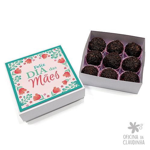 Caixa 9 Doces Mães - Flores
