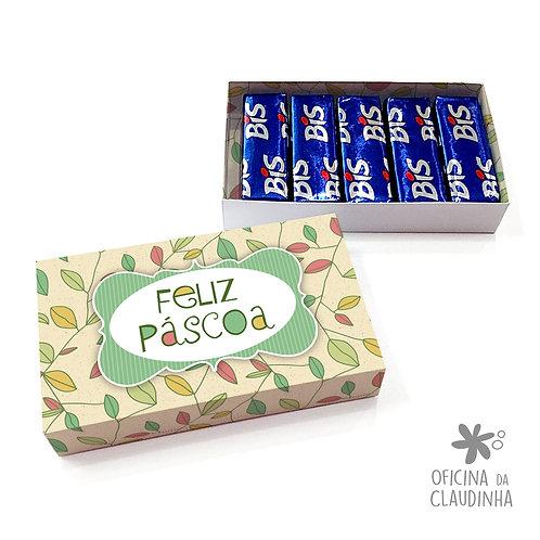 Caixa de Páscoa para 5 Bis - Folhas Coloridas