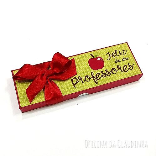 Caixa verde para canetas - Dia dos professores