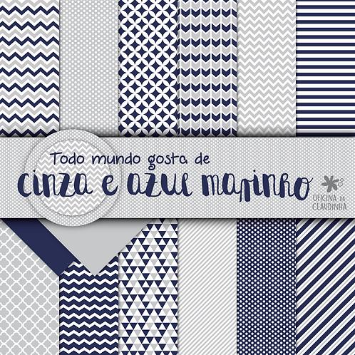 Todo mundo ama cinza e azul marinho | Papéis digitais