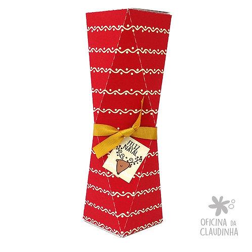 Caixa Multifacetada Grande - Vermelho Ondas & Pontos