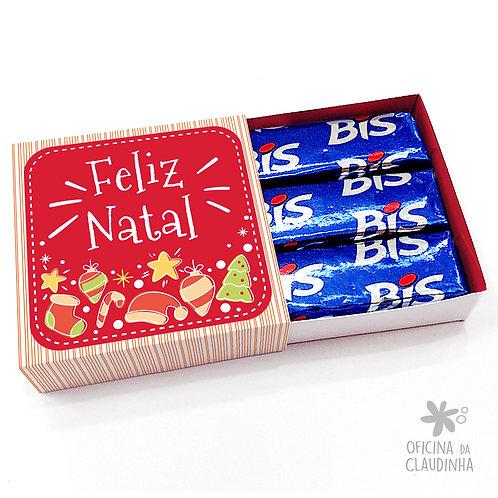 Caixa para 3 Bis - Natal Vermelho