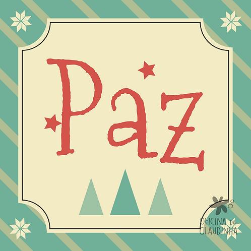 Card Natal 02 - Paz - Vintage Azul