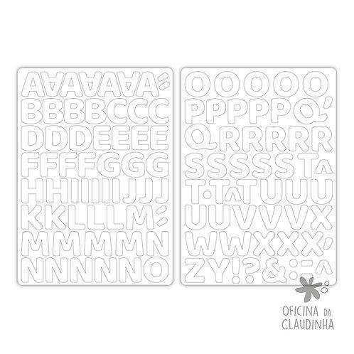 Oka branco | Alfabeto digital