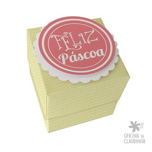 Caixa de Páscoa para 1 Ferrero Rocher - Delicatesse Verde Triângulo