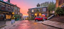 Winter Sunrise in Haworth