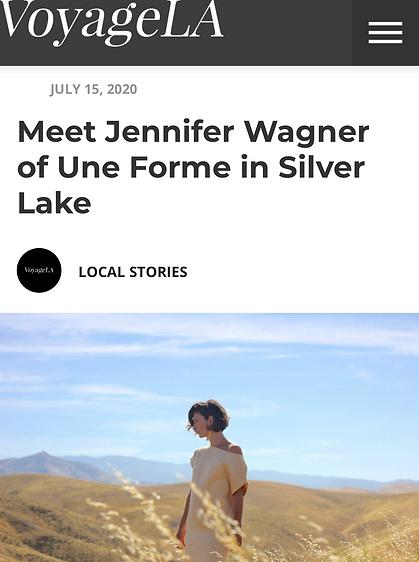 Meet Jennifer Wagner of Une Forme in Sil