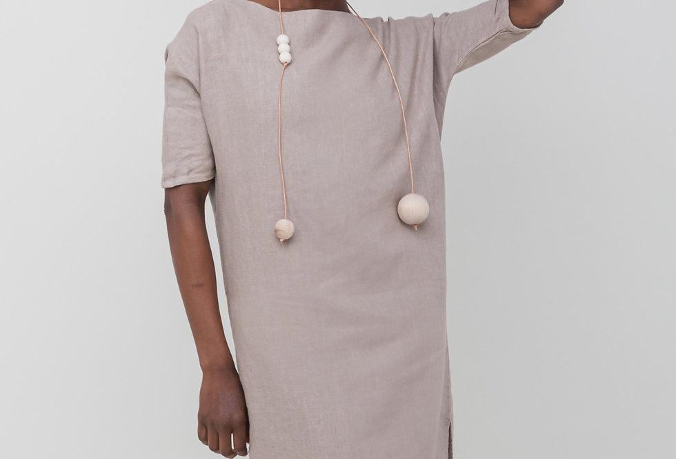 DEBRA duster dress • stone