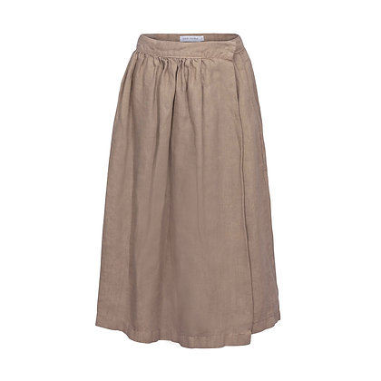 OLIVIA wrap skirt • stone
