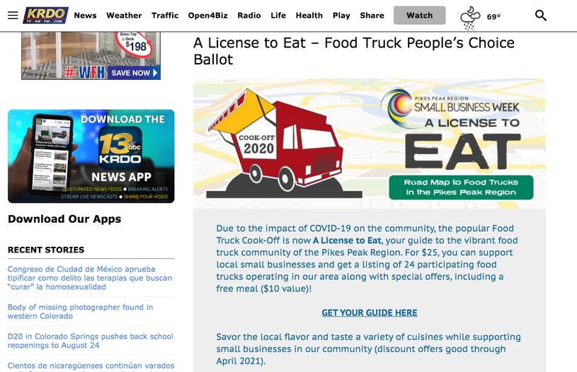 KRDO: A License to Eat/BBB Press Release