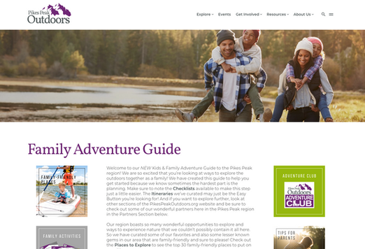 Pikes Peak Outdoors: Family Adventure Guide
