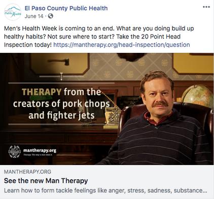 Man Therapy Social Media