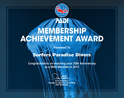 PADI 5 star dive centre Gold Coast